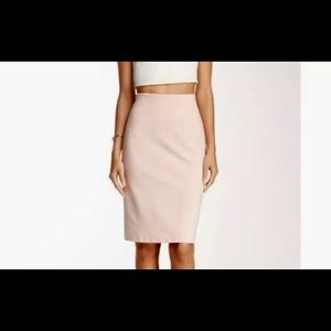 Philosophy Womens Solid Back Zip Skirt